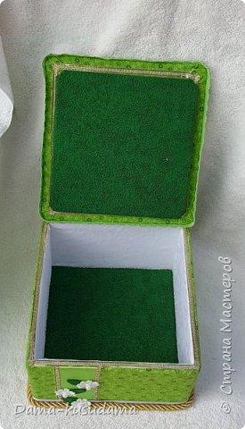 Коробки из картона,в 2 слоя + плотная белая бумага вогруг и потом еще материей обнлеивала фото 7