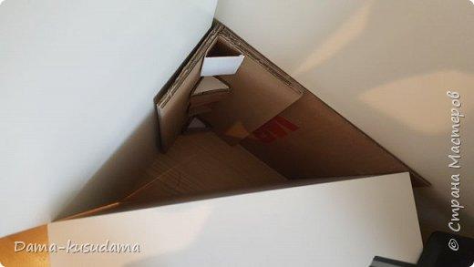 Коробки из картона,в 2 слоя + плотная белая бумага вогруг и потом еще материей обнлеивала фото 11