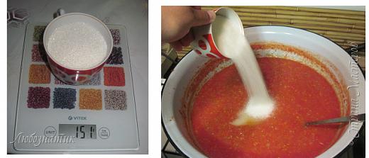Здравствуйте дорогие друзья и соседи! Сегодня хочу поделиться рецептом Кетчупа. Рецепт проверен многократно, ОЧЕНЬ ВКУСНО!  Продукты:  3 кг помидоров 0,5 кг яблок 250 г репчатого лука 1 головка чеснока (5-6 зубчиков) 1,5 столовые ложки соли 150 г сахара 1 чайная ложка красного молотого перца 50 г яблочного уксуса  фото 12