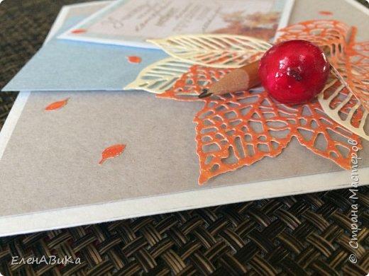 Здравствуйте, жители и гости Страны Мастеров! Хочу показать вам две открытки к Дню Учителя. В основе обеих - акварельная бумага Здесь использовала негативы от вырубки и готовую карточку с поздравлением фото 5