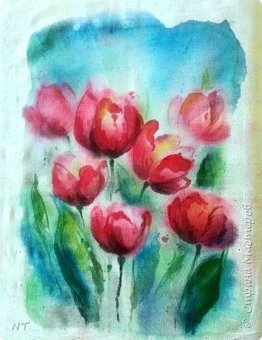 """Батик """"Тюльпаны"""" фото 1"""