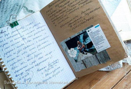 Моя последняя долгостройная работа с мастер-класса Эли Гафаровой - дневник - готова. Поскольку странички в дневник уже дома оформляла, то без фото из Архыза обойтись было бы странно. Причём, я решила вместе с фото участниц скрап-феста сохранить их АТС-ки и открытки. Хранить их отдельно не хотелось. фото 14