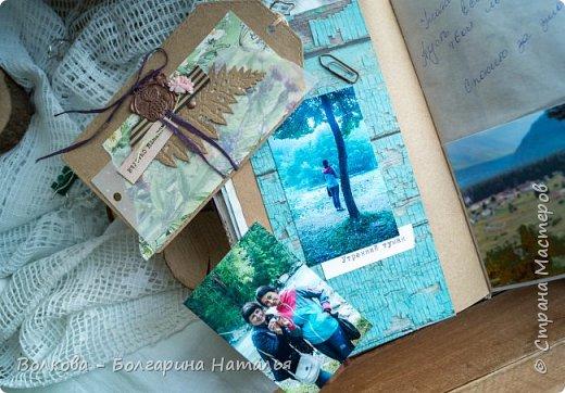 Моя последняя долгостройная работа с мастер-класса Эли Гафаровой - дневник - готова. Поскольку странички в дневник уже дома оформляла, то без фото из Архыза обойтись было бы странно. Причём, я решила вместе с фото участниц скрап-феста сохранить их АТС-ки и открытки. Хранить их отдельно не хотелось. фото 19