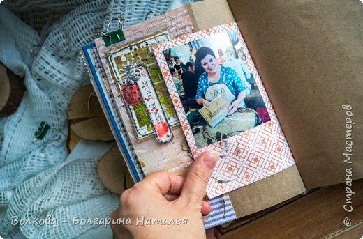 Моя последняя долгостройная работа с мастер-класса Эли Гафаровой - дневник - готова. Поскольку странички в дневник уже дома оформляла, то без фото из Архыза обойтись было бы странно. Причём, я решила вместе с фото участниц скрап-феста сохранить их АТС-ки и открытки. Хранить их отдельно не хотелось. фото 30