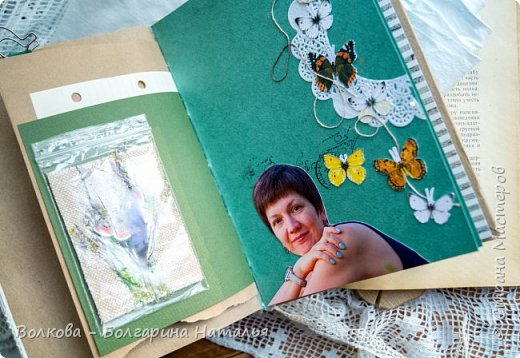 Моя последняя долгостройная работа с мастер-класса Эли Гафаровой - дневник - готова. Поскольку странички в дневник уже дома оформляла, то без фото из Архыза обойтись было бы странно. Причём, я решила вместе с фото участниц скрап-феста сохранить их АТС-ки и открытки. Хранить их отдельно не хотелось. фото 38