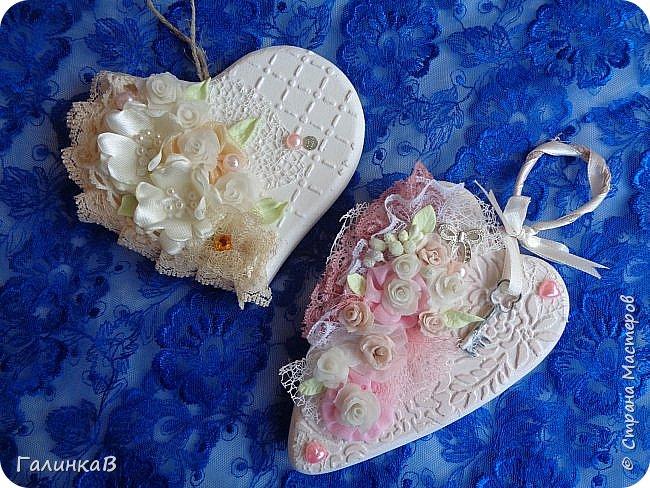 Добрый всем день! Вот такие два сердечка сделала в подарок двум очаровательным молодым женщинам. Поедут со мной в Оренбургскую область. фото 1