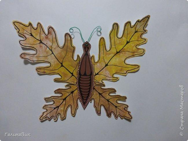 Всем добрый вечер! Для оформления школьного стенда ко Дню знаний придумала образы листьев в виде бабочек. фото 3