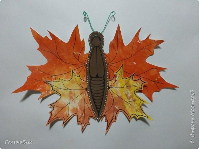 Всем добрый вечер! Для оформления школьного стенда ко Дню знаний придумала образы листьев в виде бабочек. фото 5