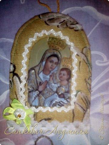 Иконка Марии в рамке фото 3