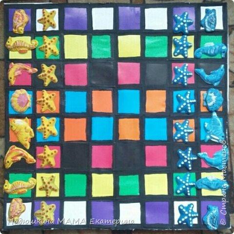 Конкурс в саду. Шахматы. Из гипса и разрисованные фото 1