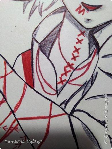 """Доброго времени суток жители Страны Мастеров! Давно я не выкладывала свои работы и вот наконец-то! Я закончила свой арт из аниме """"Токийский гуль"""" фото 4"""