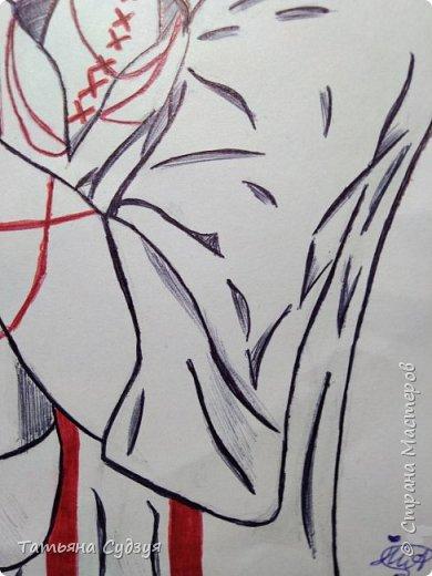 """Доброго времени суток жители Страны Мастеров! Давно я не выкладывала свои работы и вот наконец-то! Я закончила свой арт из аниме """"Токийский гуль"""" фото 5"""