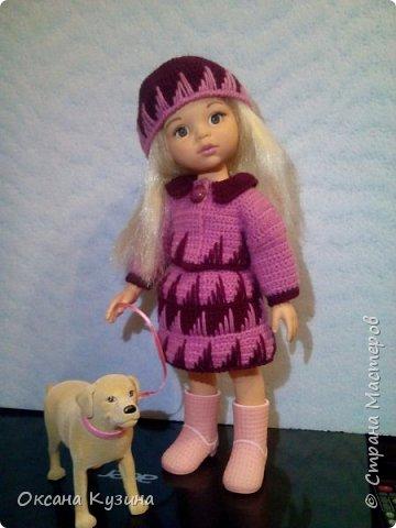 Костюм для куклы Осенняя прогулка. фото 4