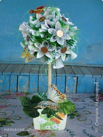 Это денежное дерево мы делали с моей любимой дочкой Вероникой. мы подарили этот подарок моему коллеге на день рождения . фото 2