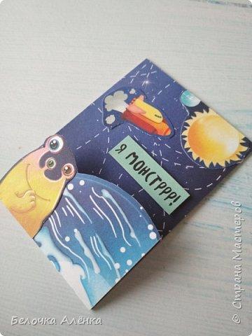 """Представляю вашему вниманию новую серию карточек, выполненную в рамках """"совместника на двоих""""! :) Тема - космос.  Это супер долгие космические карточки, идею о которых я вынашивала несколько месяцев, но не знала, с чего именно начать.  Пожаловалась Викулетте, и решили мы организовать что-то подобное совместнику.  Вот моя космическая серия, она мне кажется довольно забавной :)   Первыми к выбору приглашаются Нельча и Oksana Gordey.  фото 9"""