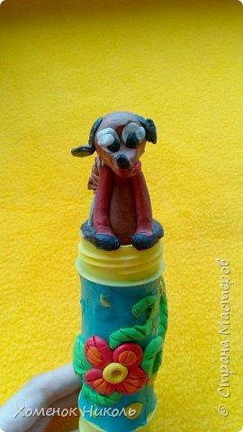 Собачка из пластилина  фото 1