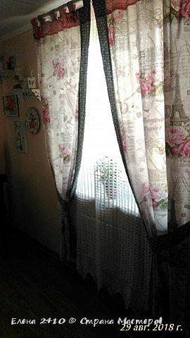 Здравствуйте дорогие! Наконец то закончили мы с мужем ремонт в комнатах! Можно и шторки новые повесить! Я показывала вам эти шторы, теперь вот на окне покажу. Фото правда не очень, как ни старалась, сверху не видно ламбрекен. Кстати я его уже перешила, изначально он был другой. фото 18