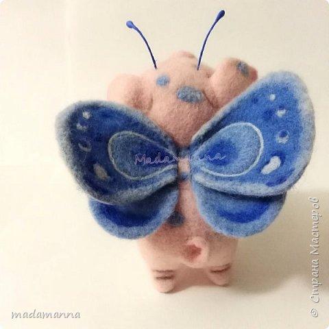 Если б Свинки были пчелками.... Нет. Не так Ах, если бы Свинки умели летать,  Они очень много могли б повидать,  Увидеть, узнать и везде побывать...  Об этом, увы, остается мечтать...  Это очень мечтательная СвинкоБабочка, а может БабОСвинка? :)  фото 3