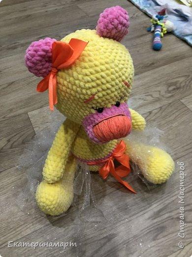 Муж сказал, что это розовая пантера, а не Мишка.. связалась в подарочек =) надеюсь, понравится =) нормальных фото сделать некогда =) фото 2