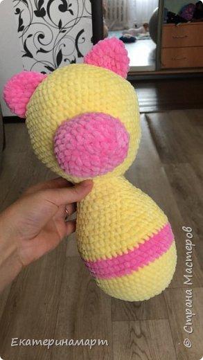 Муж сказал, что это розовая пантера, а не Мишка.. связалась в подарочек =) надеюсь, понравится =) нормальных фото сделать некогда =) фото 3