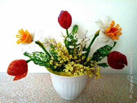 Полевые цветочки в пенечке фото 3