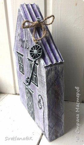 Всем доброго дня! Стройка полным ходом.... Сегодня доделала ещё один домик.... и не терпится Вам его показать..... Красавиц - сиреневый.... мой любимый цвет фото 3