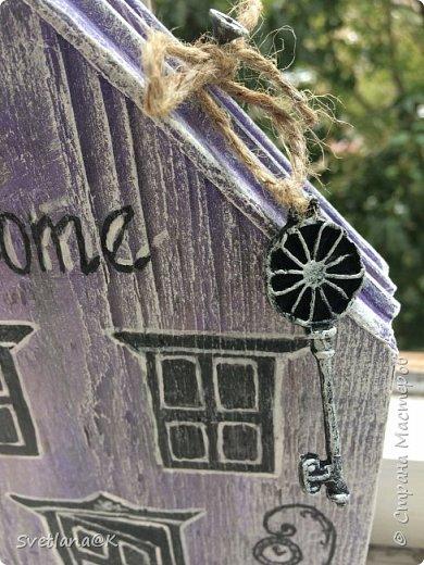 Всем доброго дня! Стройка полным ходом.... Сегодня доделала ещё один домик.... и не терпится Вам его показать..... Красавиц - сиреневый.... мой любимый цвет фото 4
