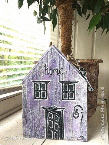 Всем доброго дня! Стройка полным ходом.... Сегодня доделала ещё один домик.... и не терпится Вам его показать..... Красавиц - сиреневый.... мой любимый цвет фото 6