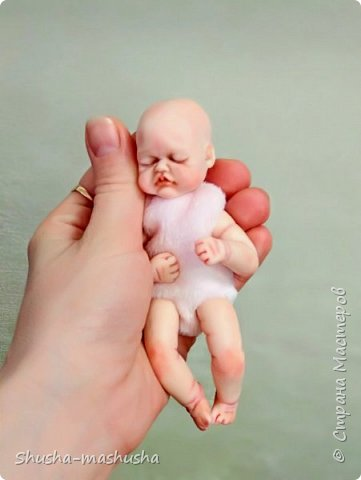 Вот такую малышку слепила из запекаемой пластики для своей дочурки. Тонировка пастелью, тело мягконабивное.  фото 1