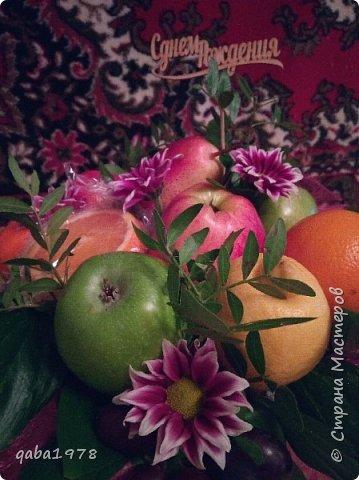 Вот такой букет-корзинка у меня получился.Сочно,аппетитно и потрясающий аромат от спелых фруктов. фото 3