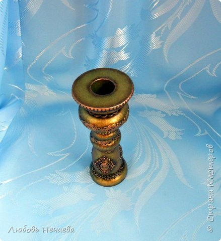 Пластмассовый фужер,залитый гипсом.Цветы---холодный фарфор из силиконовых формочек фото 8