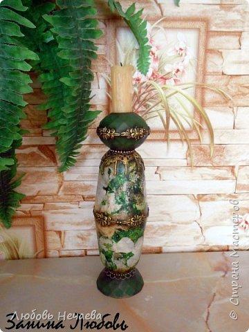 Пластмассовый фужер,залитый гипсом.Цветы---холодный фарфор из силиконовых формочек фото 9
