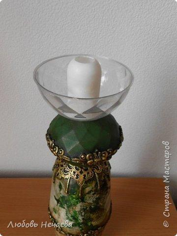 Пластмассовый фужер,залитый гипсом.Цветы---холодный фарфор из силиконовых формочек фото 11