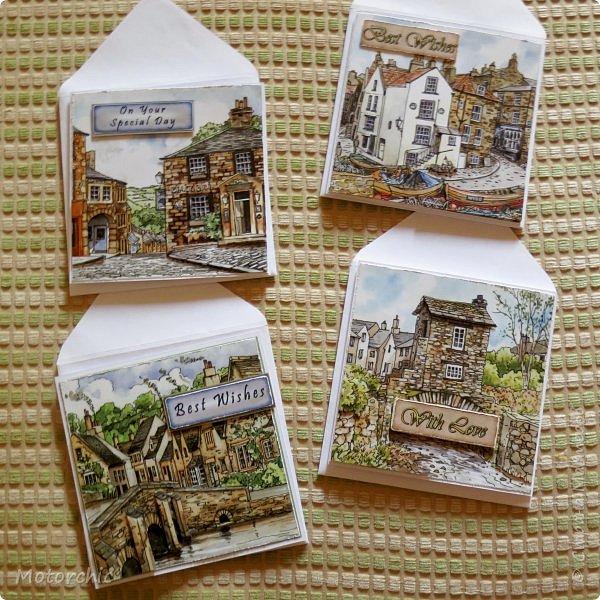 Обычно я не люблю вырезать, но распродажа 3-D декупажных карт с чудесными изображениями старых улочек подтолкнула меня на этот небольшой вырезательный подвиг =) фото 2