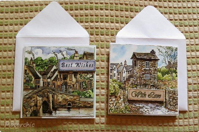 Обычно я не люблю вырезать, но распродажа 3-D декупажных карт с чудесными изображениями старых улочек подтолкнула меня на этот небольшой вырезательный подвиг =) фото 12