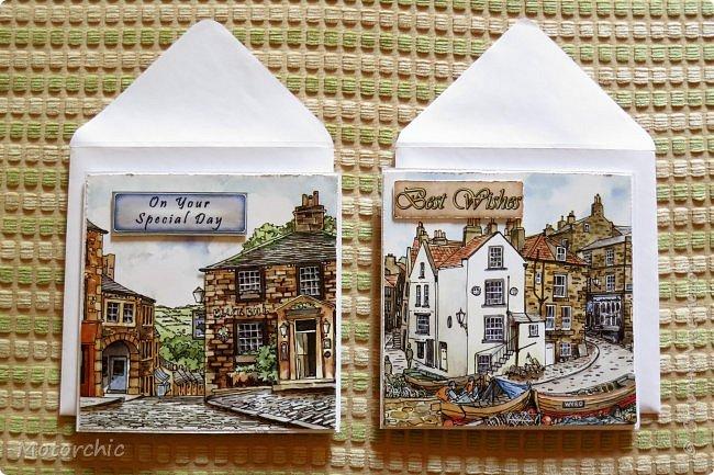 Обычно я не люблю вырезать, но распродажа 3-D декупажных карт с чудесными изображениями старых улочек подтолкнула меня на этот небольшой вырезательный подвиг =) фото 15