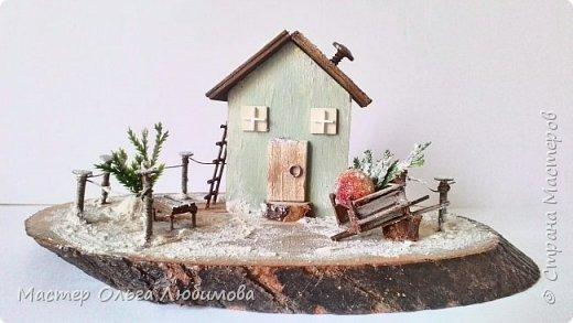 Миниатюра с зимним домиком фото 4