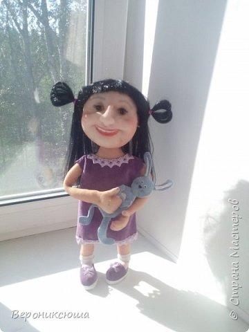 Каркасная кукла с подвижными ручками, выполненная по фото.  фото 1