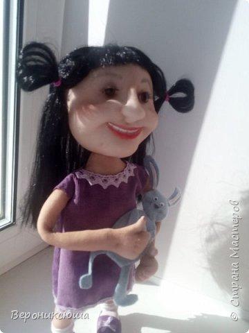 Каркасная кукла с подвижными ручками, выполненная по фото.  фото 2