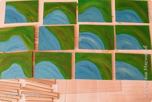 """А вот и моя серия для 1 этапа АТС-игры """"На память о лете"""". В технике Эко. Для меня лето - это зелень, лес, вода, река, озеро, фонтан, рыбки, роса по утрам... Старалась изобразить все это, но получилось так далеко от реальности... Сначала я сделала 8 карточек для игры, а потом не удержалась и еще 4 сделала для друзей в подарок. На этих карточках задники немного отличаются, я не стала там писать, что они сделаны для игры, соответственно поэтому эти АТС не для выбора игрокам. фото 17"""