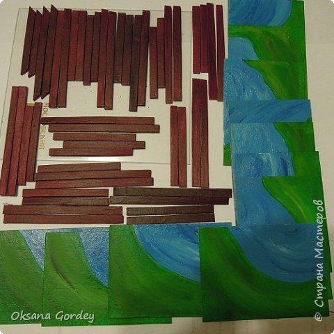 """А вот и моя серия для 1 этапа АТС-игры """"На память о лете"""". В технике Эко. Для меня лето - это зелень, лес, вода, река, озеро, фонтан, рыбки, роса по утрам... Старалась изобразить все это, но получилось так далеко от реальности... Сначала я сделала 8 карточек для игры, а потом не удержалась и еще 4 сделала для друзей в подарок. На этих карточках задники немного отличаются, я не стала там писать, что они сделаны для игры, соответственно поэтому эти АТС не для выбора игрокам. фото 18"""