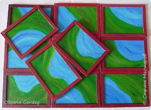 """А вот и моя серия для 1 этапа АТС-игры """"На память о лете"""". В технике Эко. Для меня лето - это зелень, лес, вода, река, озеро, фонтан, рыбки, роса по утрам... Старалась изобразить все это, но получилось так далеко от реальности... Сначала я сделала 8 карточек для игры, а потом не удержалась и еще 4 сделала для друзей в подарок. На этих карточках задники немного отличаются, я не стала там писать, что они сделаны для игры, соответственно поэтому эти АТС не для выбора игрокам. фото 19"""