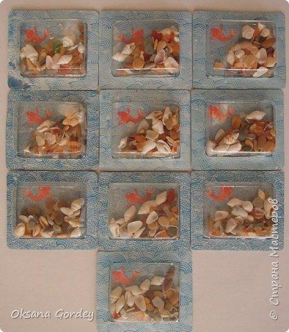 """А вот и моя серия для 1 этапа АТС-игры """"На память о лете"""". В технике Эко. Для меня лето - это зелень, лес, вода, река, озеро, фонтан, рыбки, роса по утрам... Старалась изобразить все это, но получилось так далеко от реальности... Сначала я сделала 8 карточек для игры, а потом не удержалась и еще 4 сделала для друзей в подарок. На этих карточках задники немного отличаются, я не стала там писать, что они сделаны для игры, соответственно поэтому эти АТС не для выбора игрокам. фото 27"""