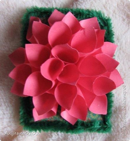"""Всем здравствуйте!!!!Представляю Вам свою серию АТС """" На память о лете"""" по игре , организованной Oksana Gordey  , проживающей здесь  https://stranamasterov.ru/node/1152161   Лето для меня-это цветы, а мои любимые цветы -это георгины! Вот Вам мой букет!Очень надеюсь, что он Вам понравится !Карточек всего девять, так как в букетах должно быть нечетное число цветов.Сначала выбирают участники игры, одну карточку я должна Полине Купряшиной (за сову), если ей понравится, то буду рада! фото 7"""
