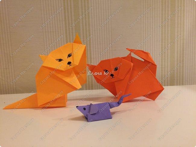 Кошки-мышки в технике оригами фото 1
