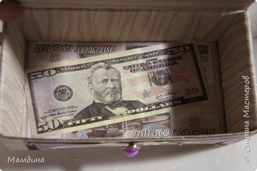 Доброго времени суток! Попытка освоить скрапбукинг )) Коробка сделана для денежного подарка. Я немного переборщила с декором, но это я поняла спустя некоторое время, когда подарок был уже вручен)) фото 6