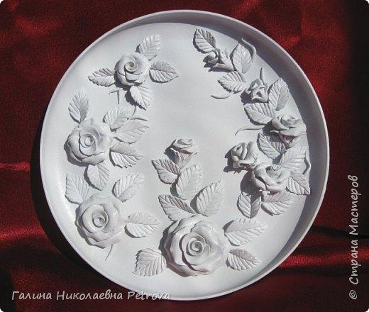 Тарелки из холодного фарфора.  фото 2