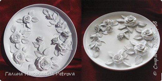 Тарелки из холодного фарфора.  фото 1