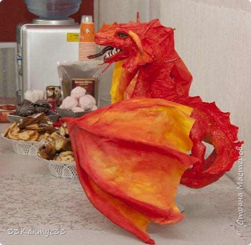 Дракон. Папье маше фото 2