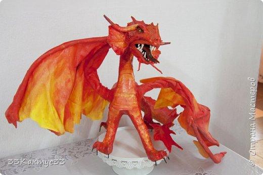 Дракон. Папье маше фото 1